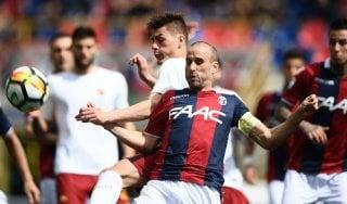 Bologna-Roma 1-1, Dzeko risponde a Pulgar, Nainggolan a rischio per il Barcellona