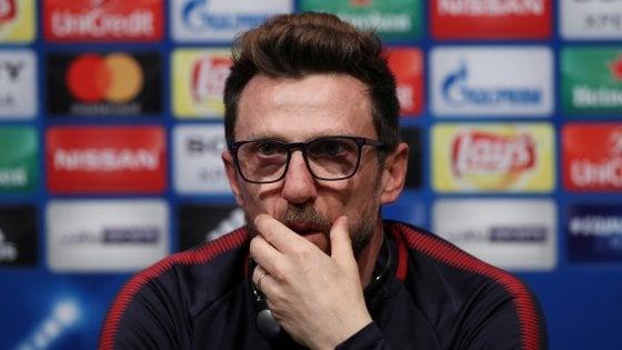Roma, Di Francesco: ''A Barcellona con umiltà, vogliamo fare qualcosa di straordinario''