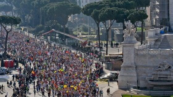 Maratona di Roma, Tusa fa tripletta