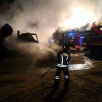 Roma, incendio distrugge cinque bettoniere a Boccea