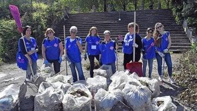 Roma, retake stadio Flaminio: raccolti 80 chili di rifiuti