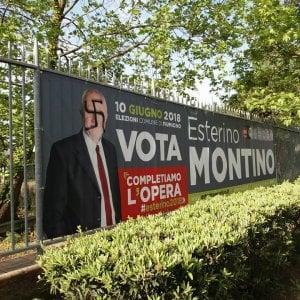 Fiumicino, svastiche sui manifesti elettorali del sindaco uscente