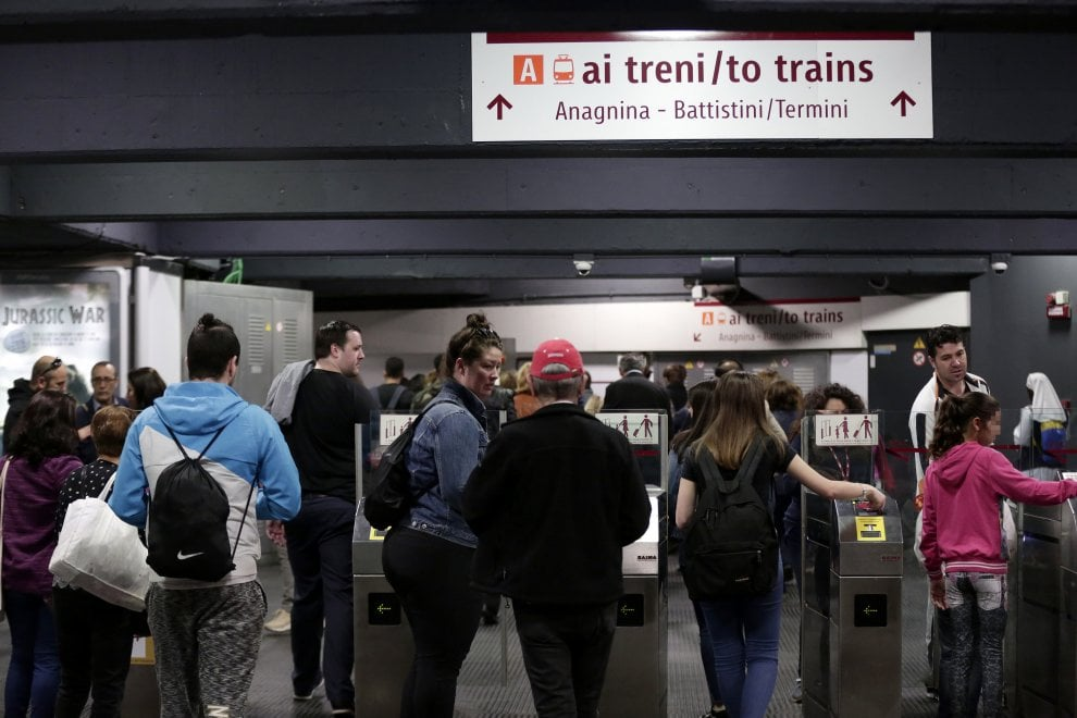 Metro C,  scambio con la A a San Giovanni. Primo test dopo l'inaugurazione