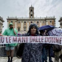 Roma, la protesta in Campidoglio: