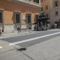 Roma, effetto Giro d'Italia: le buche (in centro) spariscono