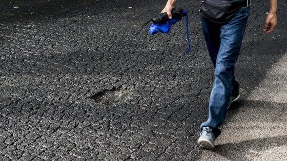 """Roma, asfalto sigillante in via Galba, ma il giorno dopo è già sgretolato. Gatta: """"Risultati fra mesi"""""""