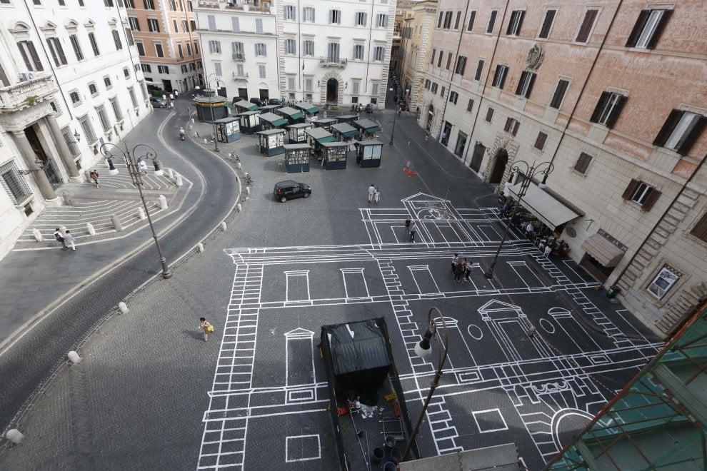 Una facciata sui sampietrini: l'opera degli studenti di Architettura di Roma