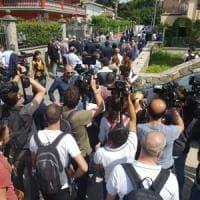 Roma, Romanina, Salvini nella villa confiscata ai Casamonica: