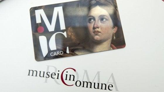 """Roma, arriva la """"Mic"""": la card per l'accesso gratuito ai 19 musei della capitale"""