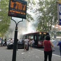 Roma, paura alla Magliana: principio d'incendio su bus. Nessun ferito