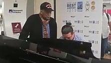 Quincy Jones a Fiumicino jazz tra i passeggeri   video