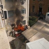 Roma, incendio in un cassone al Policlinico: evacuati pazienti