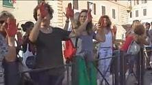Mani rosse al Viminale per i diritti dei migranti