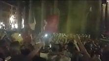La festa dei tifosi per i 91 anni della Roma -   video