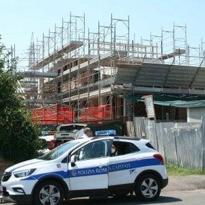 Roma, Eur, polizia locale sequestra vasta area di cantiere