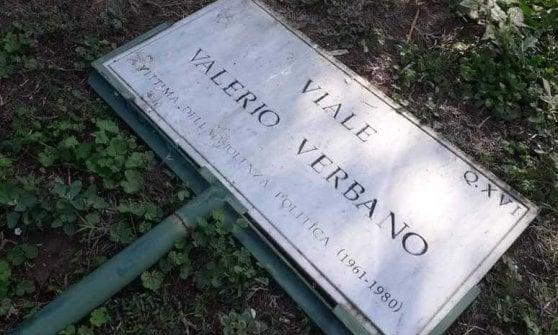 Roma, divelta la targa del viale dedicato a Valerio Verbano