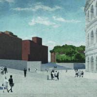 Strade interrate e una piazza pedonale: il Colosseo del futuro in un progetto