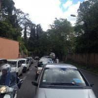 Roma, voragine in viale Policlinico, Albero sulla Togliatti: disagi al traffico