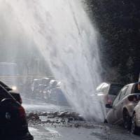 Roma, geyser a Monteverde: guasto riparato. Ripristinata l'acqua in tutti gli appartamenti