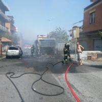 Roma, Tor Vergata:  un altro bus a fuoco