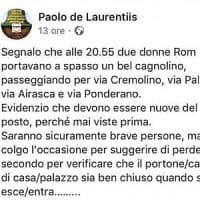 Roma, il consigliere grillino fa il vigilante su Fb: