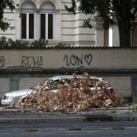 Roma, i rami potati rimangono in strada: il servizio giardini non li rimuove