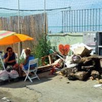Ostia, sgomberato insediamento abusivo a piazzale Magellano