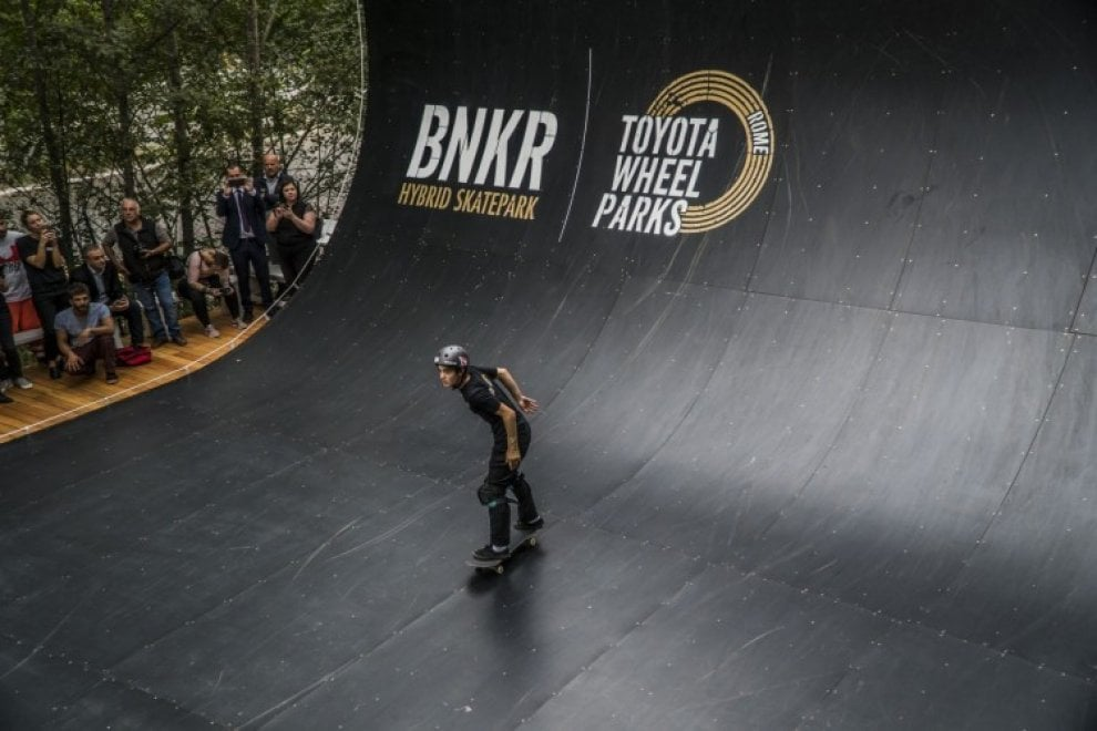 A Roma arriva il Bnkr Toyota Wheel Park, il primo skate park in Italia aperto a tutti