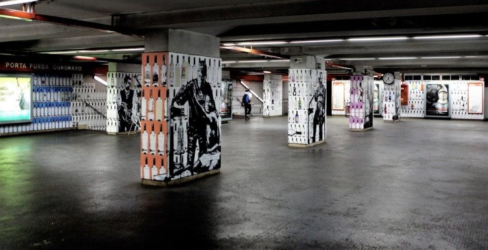 """Roma, """"Vuoti di memoria"""" a Porta Furba, il murale nella stazione metro"""
