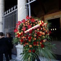 Roma, funerali di Maria Sensi, da Totti a Di Francesco a Zeman il caldo abbraccio giallorosso
