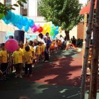 Roma, inaugurata la nuova area giochi della scuola Mazzini