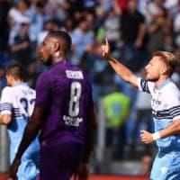 Lazio-Fiorentina 1-0, Immobile fa sorridere Inzaghi