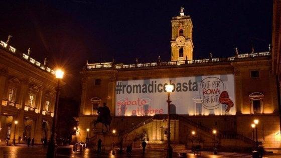"""#Romadicebasta anche ai partiti. """"In piazza da cittadini contro Raggi"""""""