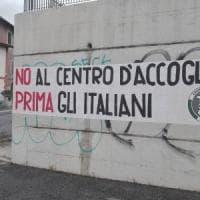 Roma, presidio di Casapound contro il centro per migranti: