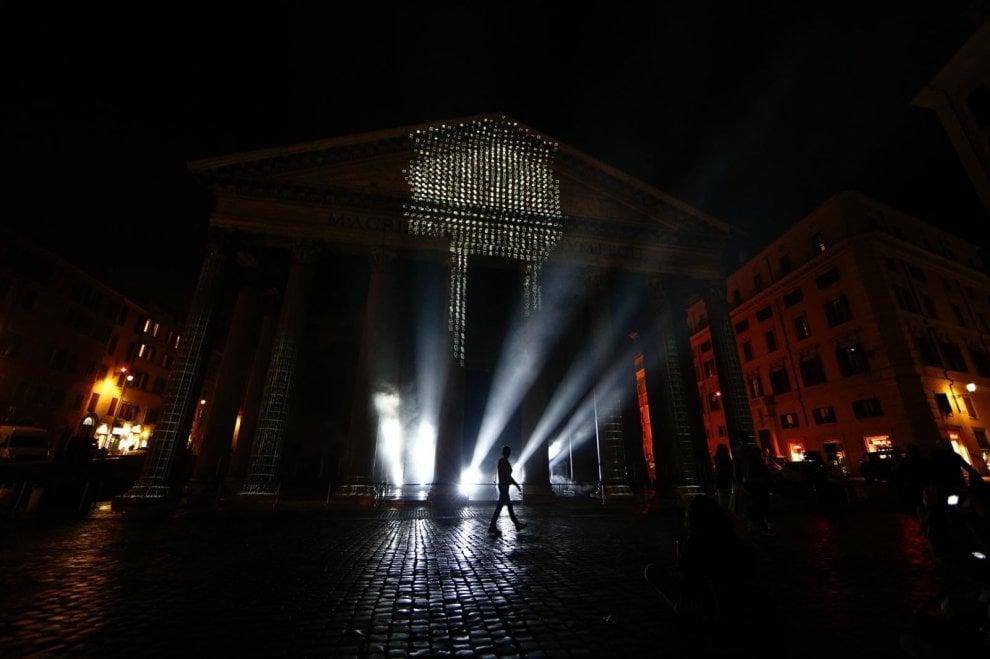 """Pantheon, l'innovativo Mapping architettonico di Onionlab con """"Ulterior"""", futuro e passato riportati in vita oltre lo spazio e il tempo"""
