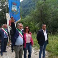 San Giorgio al Liri, il sindaco Della Rosa saluta i pellegrini col saluto