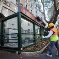 Roma, demolito l'ultimo dehors abusivo di vetro e acciaio di via Veneto