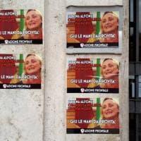 Roma, manifesti antiabortisti di Azione frontale contro Sabrina Alfonsi. Lei: