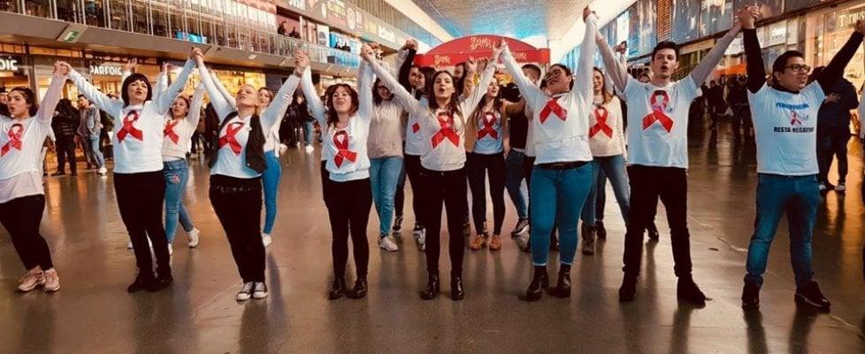 Flash Mob alla stazione termini per la giornata mondiale della lotta all'Aids