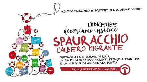 """Roma, i volontari del Baobab lanciano Spauracchio, """"l'albero migrante"""" contro l'esclusione sociale"""