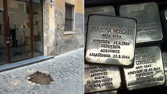 """Roma, Monti: rubate 20 pietre d'inciampo dedicate a vittime della Shoah. Zevi: """"Atto criminale"""""""