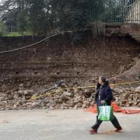 Crollato nella notte a Roma muro a San Lorenzo: