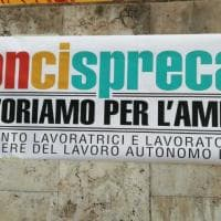 Roma, proteste dipendenti Sogesid sotto il ministero: