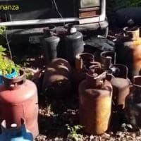 Traffico di bombole di gas di gpl tra Lazio e Campania