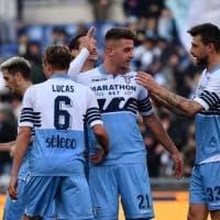 Coppa Italia, Lazio-Novara 4-1: Luis Alberto, doppio Immobile e Milinkovic-Savic