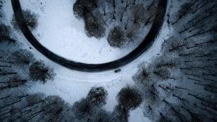 Neve a Monte Livata  foto  la curva è un quadro