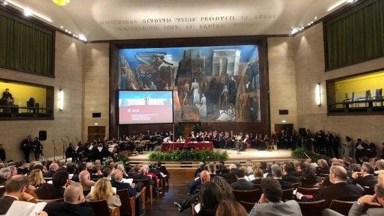 Università La Sapienza, Conte, Bussetti e Amato all'inaugurazione del nuovo anno accademico