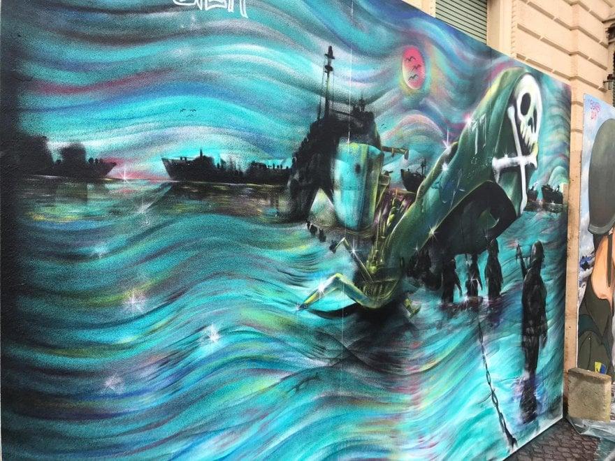 A Nettuno lo sbarco degli alleati diventa street art