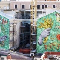 Roma, le spighe e il serpente: a San Lorenzo il murale di Lucamaleonte