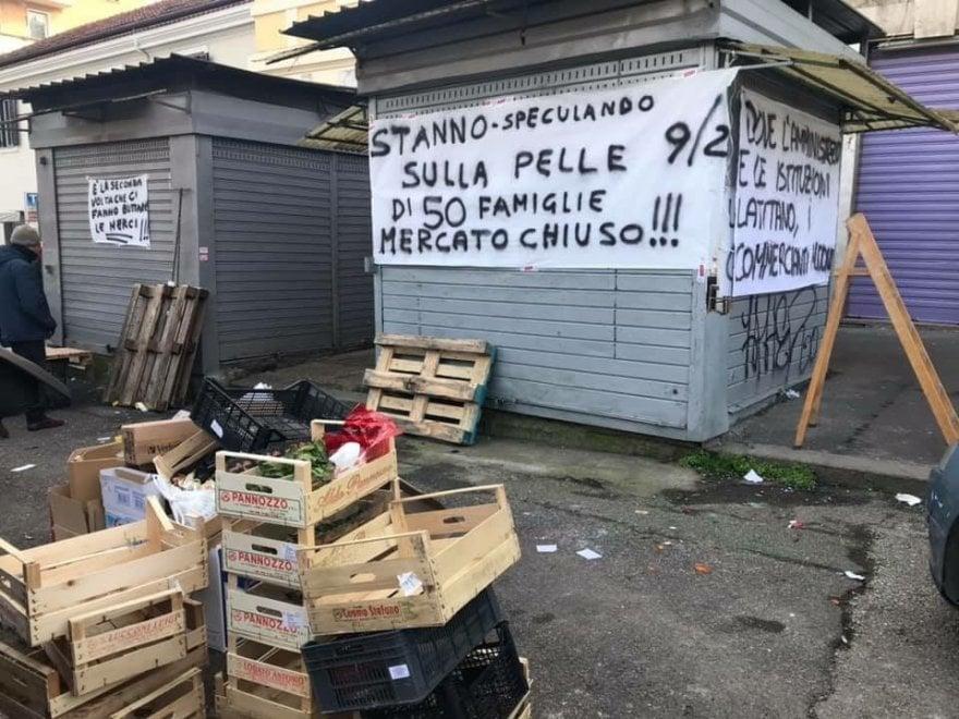 Roma, dopo la protesta il mercato Portuense riapre